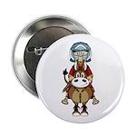 "Roman Gladiator Riding Horse 2.25"" Button (10"