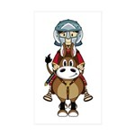 Roman Gladiator Riding Horse Sticker (50 Pk)