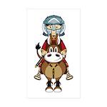 Roman Gladiator Riding Horse Sticker (10 Pk)