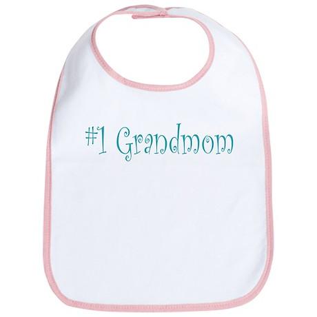 #1 Grandmom Bib