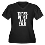 Thats What She Said White Women's Plus Size V-Neck