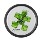 PuzzlesPuzzle (Green) Large Wall Clock