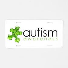 PuzzlesPuzzle (Green) Aluminum License Plate