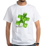 PuzzlesPuzzle (Green) White T-Shirt