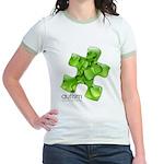 PuzzlesPuzzle (Green) Jr. Ringer T-Shirt