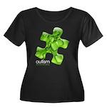 PuzzlesPuzzle (Green) Women's Plus Size Scoop Neck