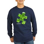 PuzzlesPuzzle (Green) Long Sleeve Dark T-Shirt