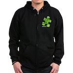PuzzlesPuzzle (Green) Zip Hoodie (dark)