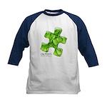 PuzzlesPuzzle (Green) Kids Baseball Jersey