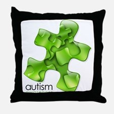 PuzzlesPuzzle (Green) Throw Pillow