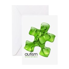 PuzzlesPuzzle (Green) Greeting Card