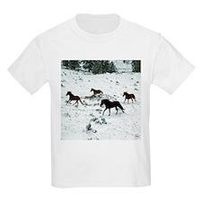 Snow Run for Horses T-Shirt