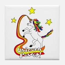 Unicorn Power Tile Coaster
