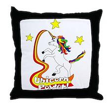 Unicorn Power Throw Pillow