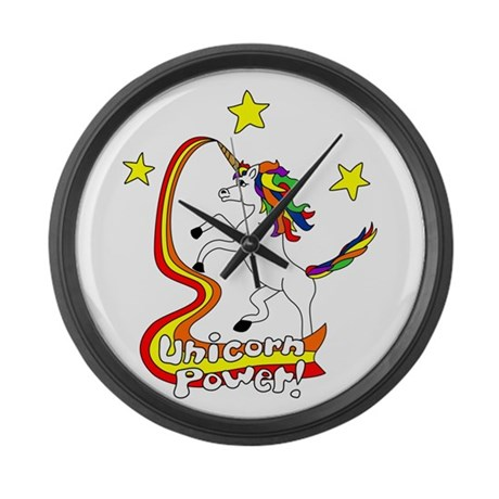 Unicorn Power Large Wall Clock