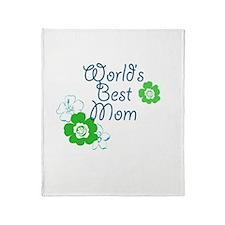 World's Best Mom Throw Blanket