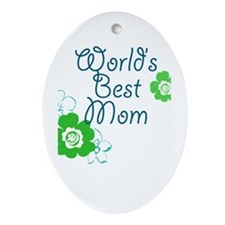 World's Best Mom Ornament (Oval)