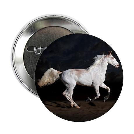 "Sabino White Horse 2.25"" Button (10 pack)"