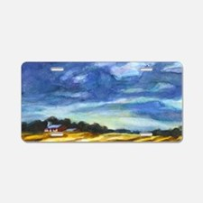 """Barn, Morningsun"" Aluminum License Plate"
