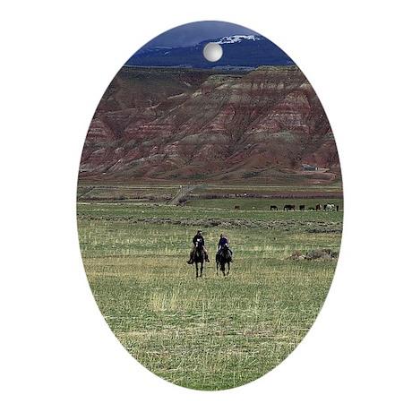 Purple Mountain Riders Ornament (Oval)