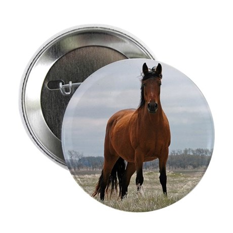"""Bay Mare 2.25"""" Button (100 pack)"""