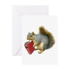 Squirrel with Book Greeting Card