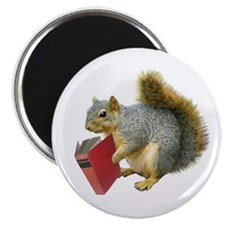 Squirrel with Book Magnet