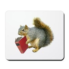 Squirrel with Book Mousepad
