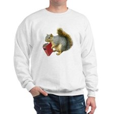 Squirrel with Book Sweatshirt