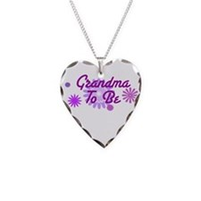 Grandma To Be Necklace Heart Charm