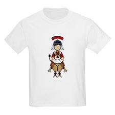 Roman Soldier Riding Horse T-Shirt