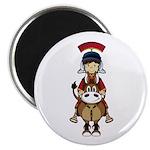 """Roman Soldier Riding Horse 2.25"""" Magnet (10 P"""