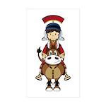 Roman Soldier Riding Horse Sticker (50 Pk)