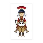 Roman Soldier Riding Horse Sticker (10 Pk)
