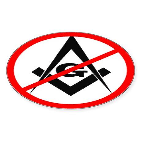 Anti Masons - Sticker (Oval)