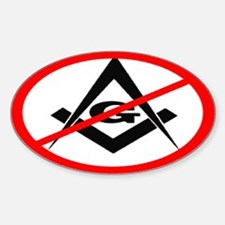 Anti Masons - Sticker (Oval)