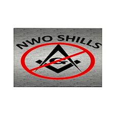 Masons Are NWO Shills - Rectangle Magnet