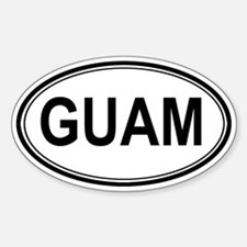 Guam Euro Oval Decal