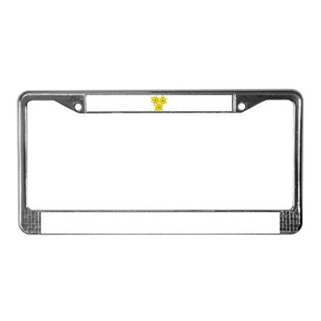 Yellow daffodil License Plate Frame