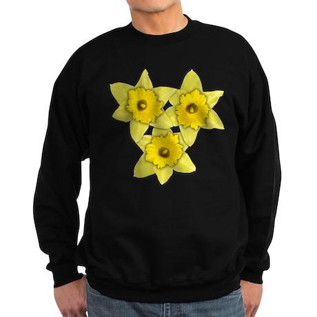 Yellow daffodil Sweatshirt (dark)