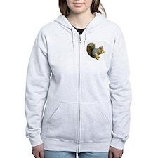 Peace Squirrel Zip Hoodie