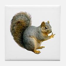 Peace Squirrel Tile Coaster