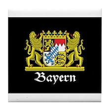 Black Bayern Tile Coaster