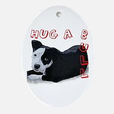 Hug-A-Bull Ornament (Oval)