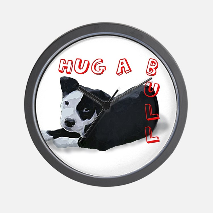 Hug-A-Bull Wall Clock