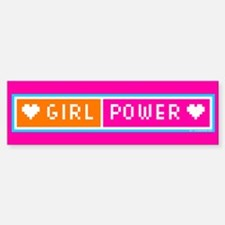 Girl Power Bumper Bumper Bumper Sticker