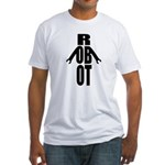Typographic Robot Fitted T-Shirt