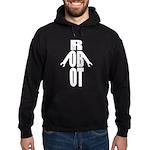 Typographic Robot Hoodie (dark)