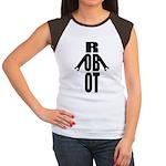 Typographic Robot Women's Cap Sleeve T-Shirt