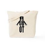 Typographic Robot Tote Bag